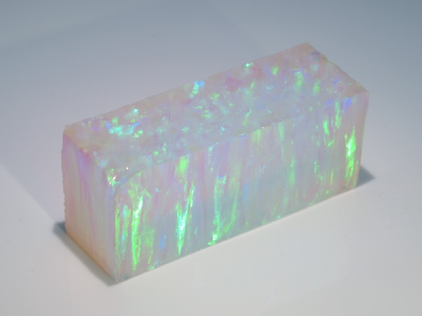 Impregnated Synthetic Opal - White Opal (Green Fire)